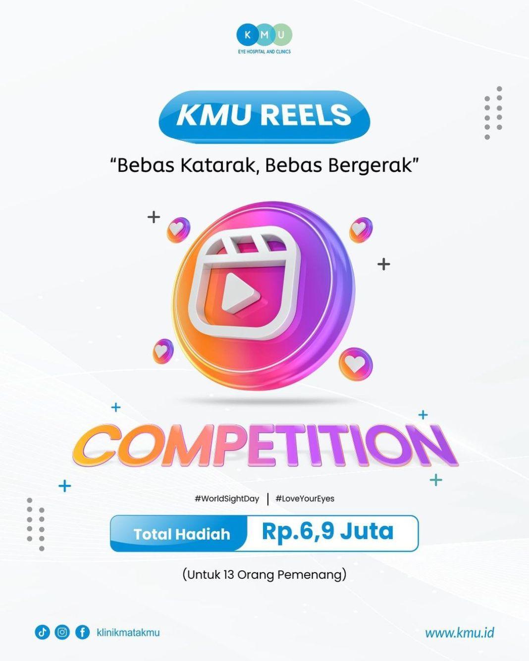 """Ayo ikut """"KMU Reels Competition""""!!!  Nah, dalam rangka Hari Penglihatan Sedunia atau World Sigh…"""
