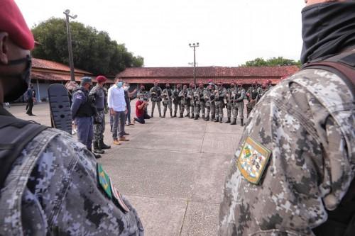 Wilson Lima acompanha início da operação 'Mão de Ferro', executada pela Polícia Militar do Amazonas e Força Nacional