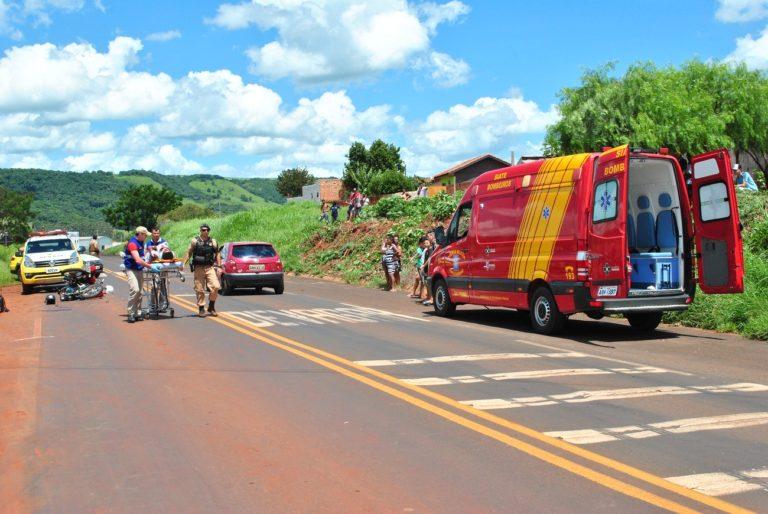 Colisão deixa motociclistas gravemente feridos na PR-092