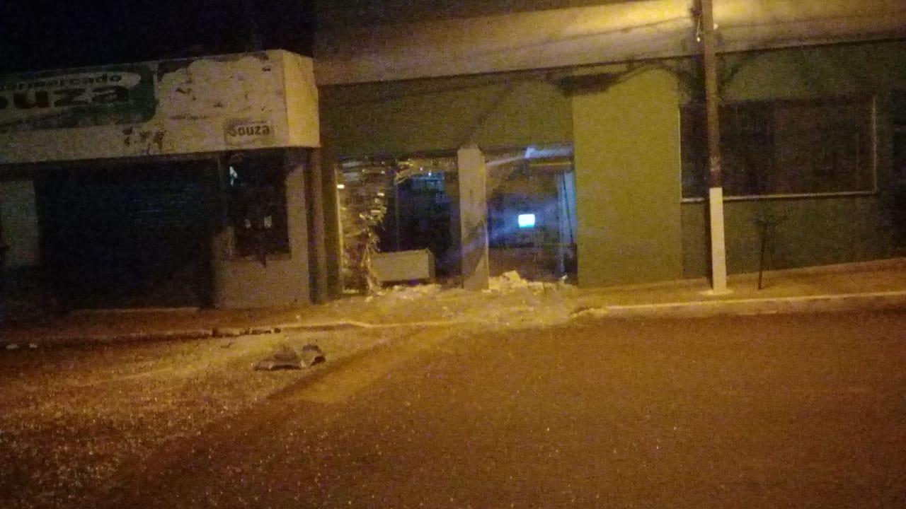 Mais uma agência do Sicredi destruída na região