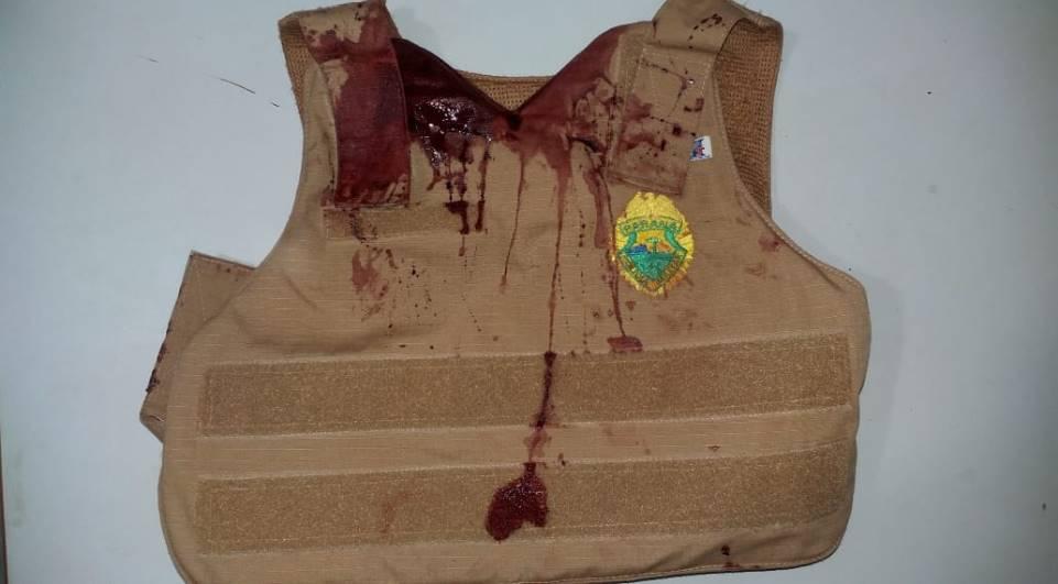 Policial Militar leva facada ao atender ocorrência de suicídio