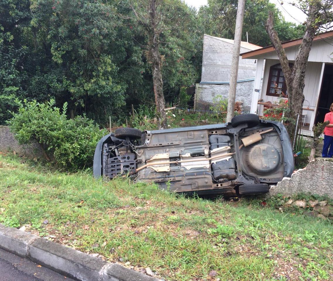 Paraná: Motorista invade muro de residência após desviar de cachorro no Portão