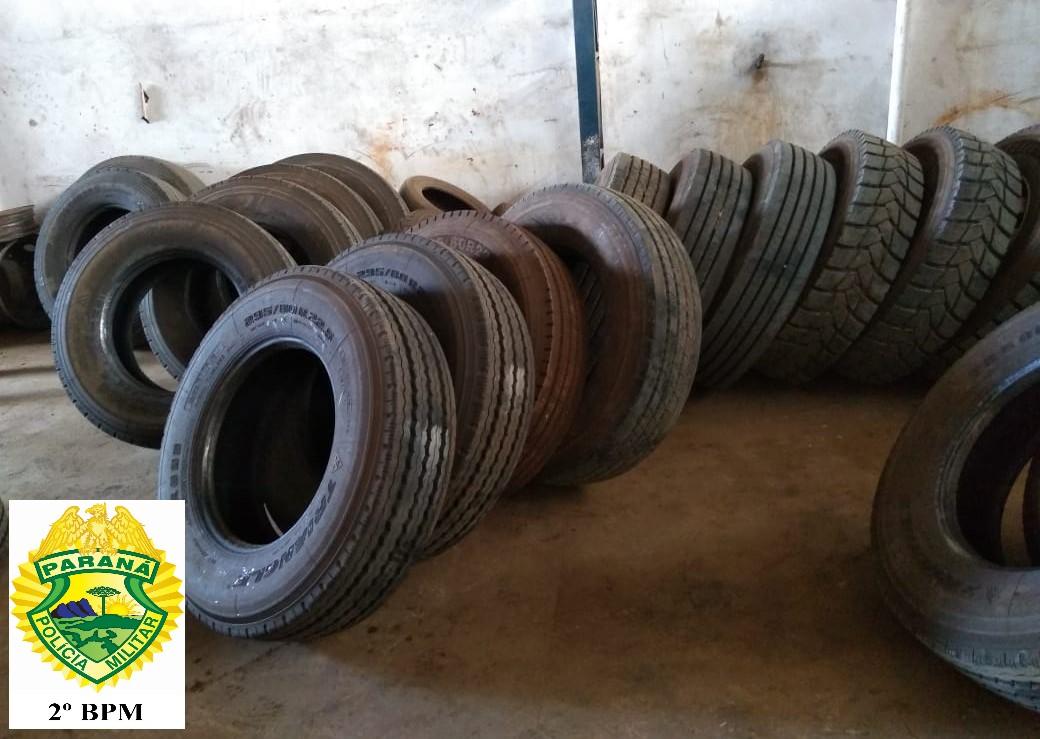 Policia apreende R$ 79 mil em pneus do Paraguai