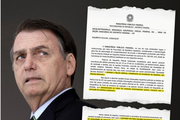 Polícia Federal caça grupo terrorista que ameaça Bolsonaro e dois ministros