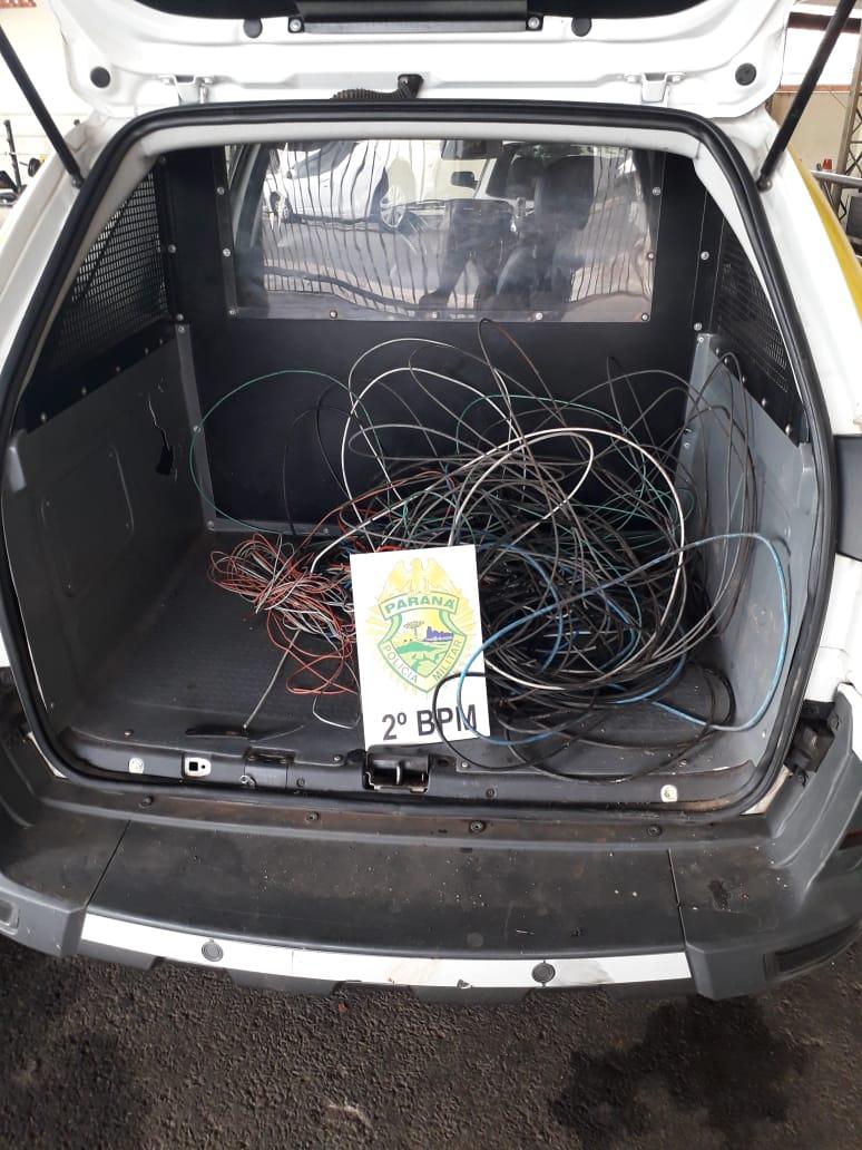 Polícia Militar apreende ladrões de fios de cobre em Jacarezinho