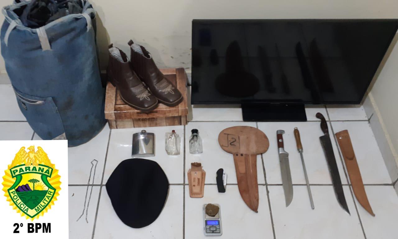 2º BPM: Polícia Militar  prende autores de futo e recupera produtos