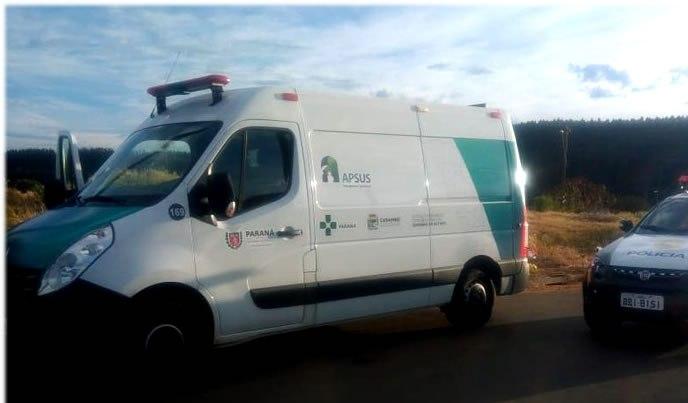 Ambulância é furtada com paciente dentro em cidade na região dos Campos Gerais no Paraná