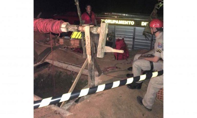 Homem que fazia reparo em poço morre após sofrer queda de 15 metros