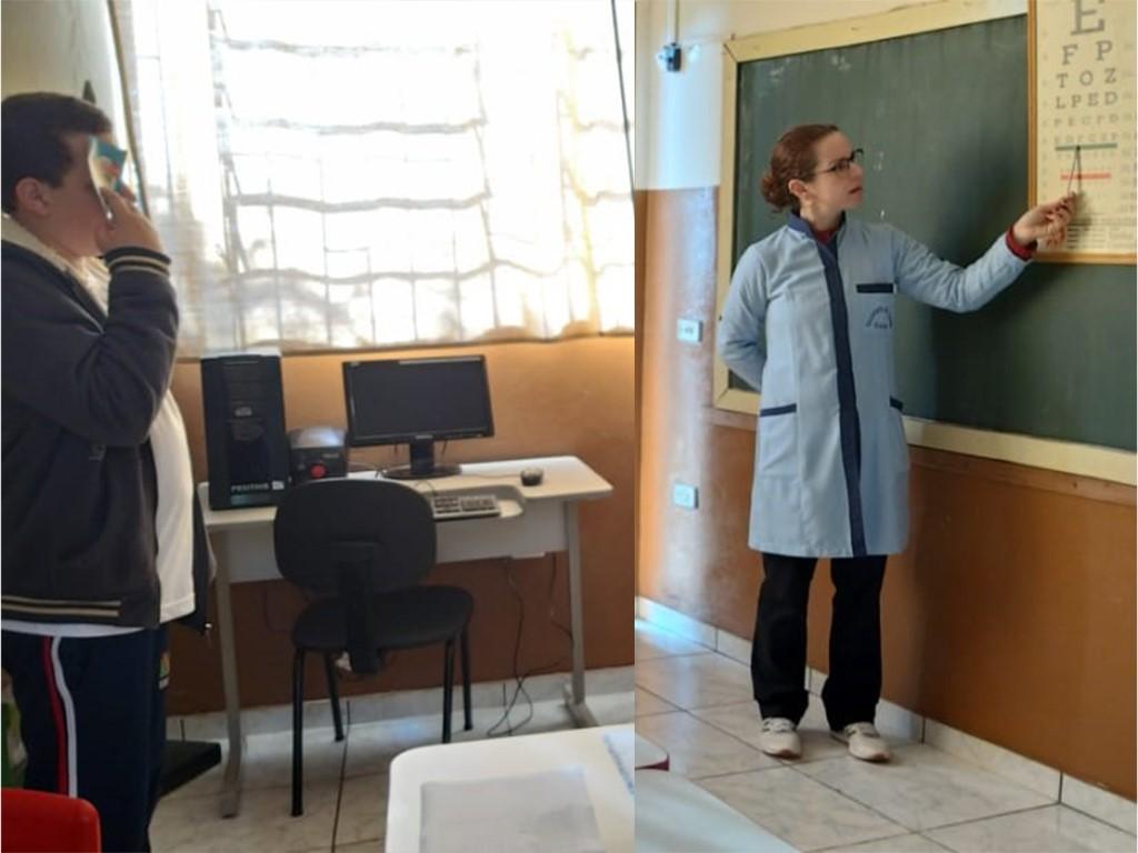 Programa Saúde do Escolar realiza exames de acuidade visual em escolas