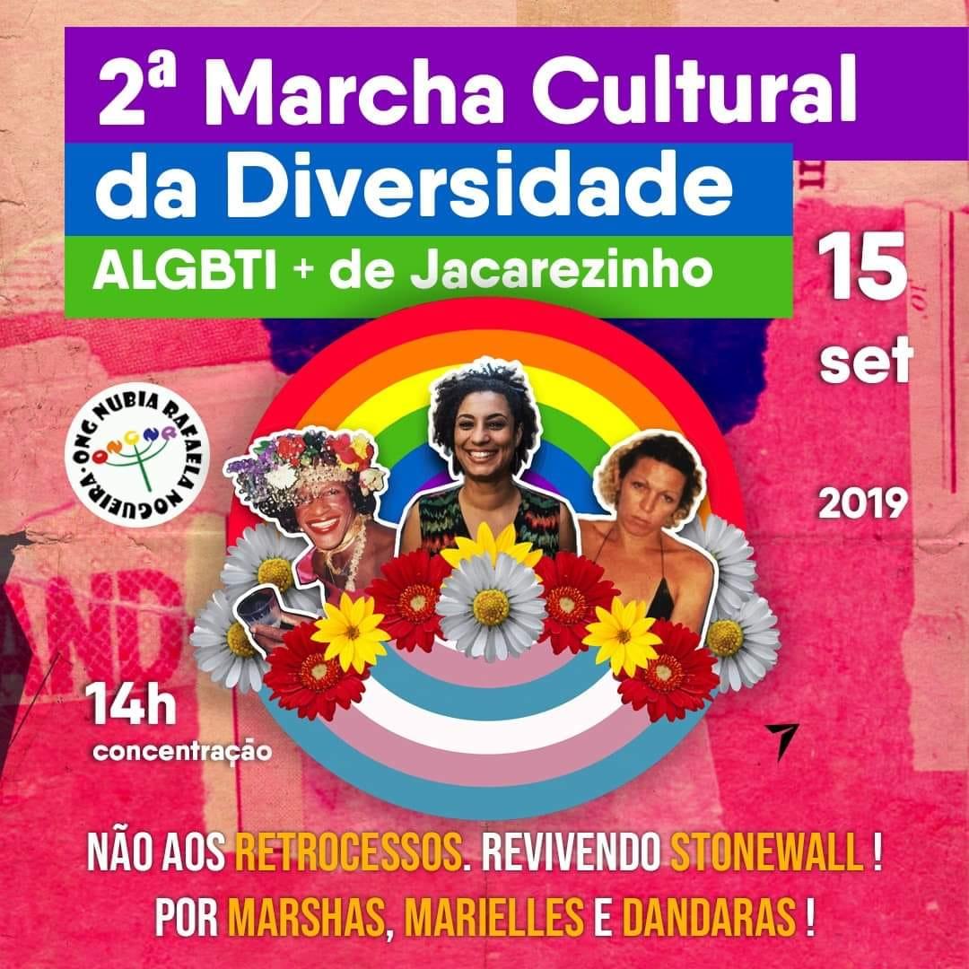 Vem aí: 2ª. Marcha Cultural da Diversidade ALGBTI+ de Jacarezinho