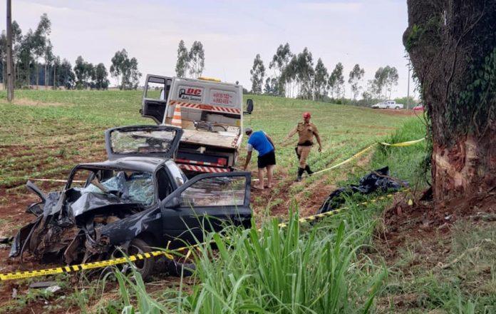 Mãe, dois filhos e neto morrem em acidente na PR-281, no sudoeste do Paraná