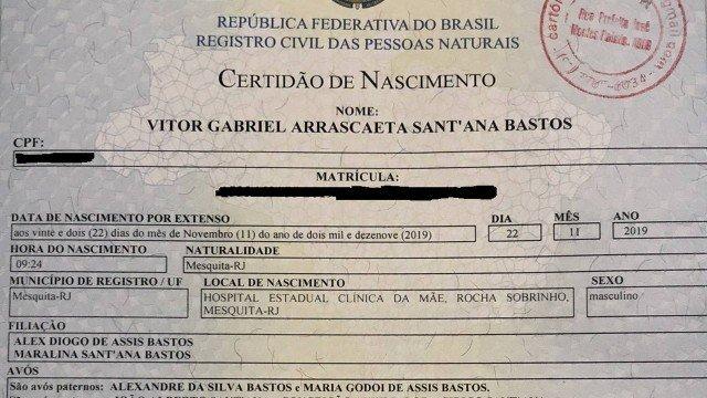 Pai registra filho em cartório como 'Gabriel Arrascaeta' após título do Flamengo
