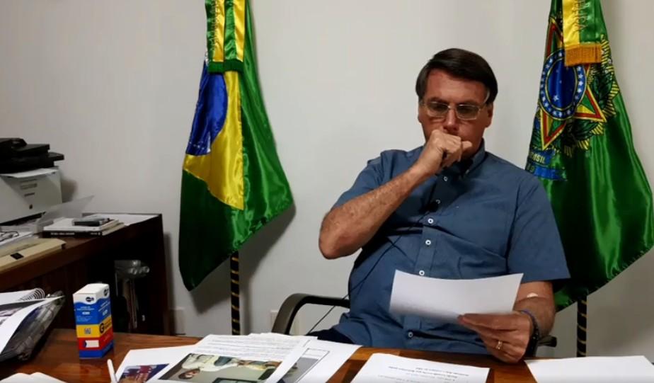 Bolsonaro repete fala pró-cloroquina e diz que não deve estar livre da Covid-19 na próxima semana