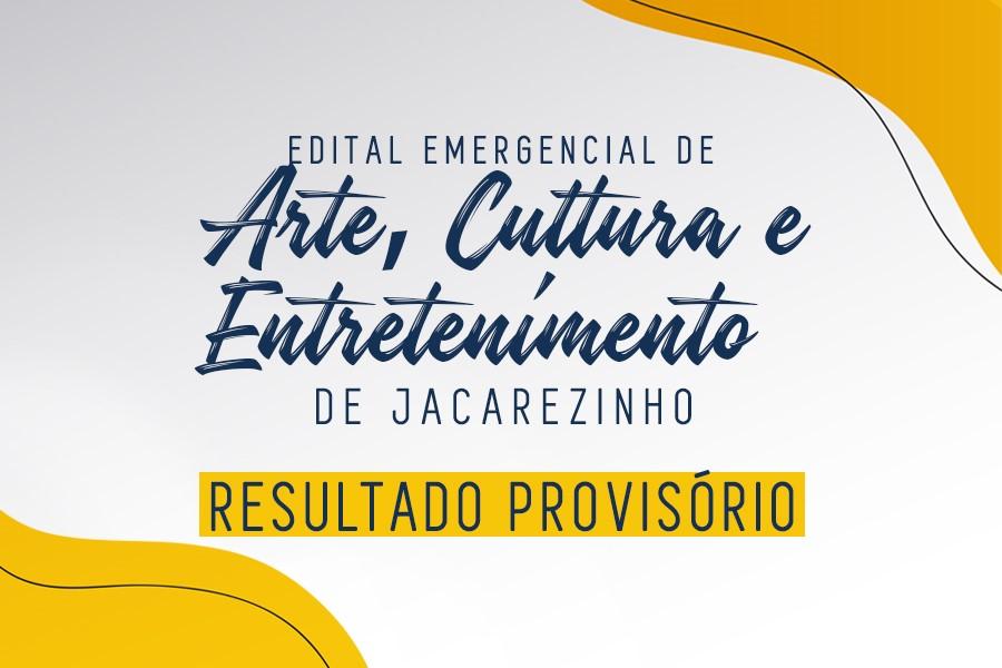 Jacarezinho divulga resultado preliminar do edital de arteTi