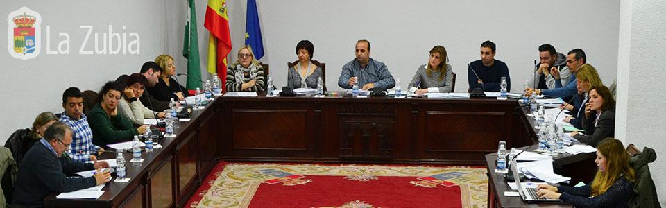 Actas de plenos del Ayuntamiento de La Zubia