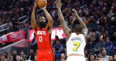 Passeio na NBA: Rockets domina e vence fácil o Warriors fora de casa