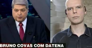 Em pré campanha, Bruno Covas e Datena fazem dobradinha anti coronavírus