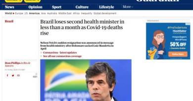 Imprensa internacional repercute saída de Teich com crítica a Bolsonaro