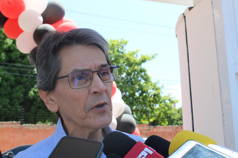 Roberto Jefferson, presidente nacional do PTB, em evento do partido em Teresina.