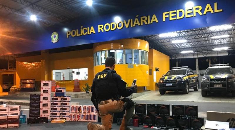 PRF apreende contrabando de eletrônicos avaliado em R$ 160 mil
