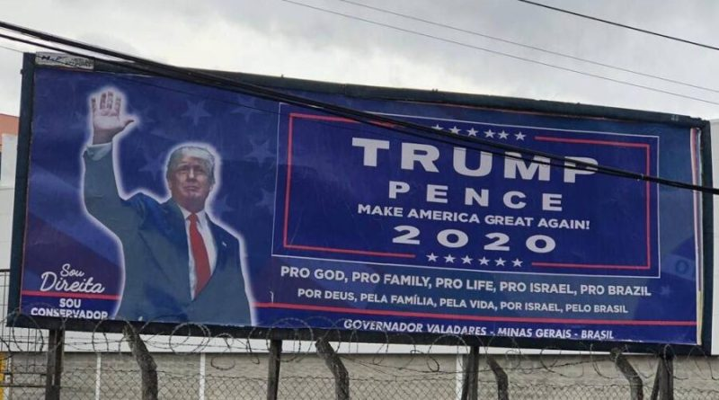 Brasileiro que vive nos EUA paga outdoor pró Trump em Governador Valadares