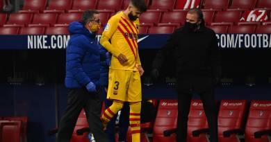 Barcelona confirma entorse e lesão parcial de ligamento cruzado de Piqué