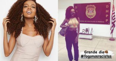 Thelma Assis presta depoimento após ataques nas redes sociais: 'Fogo nos racistas' – Jovem Pan