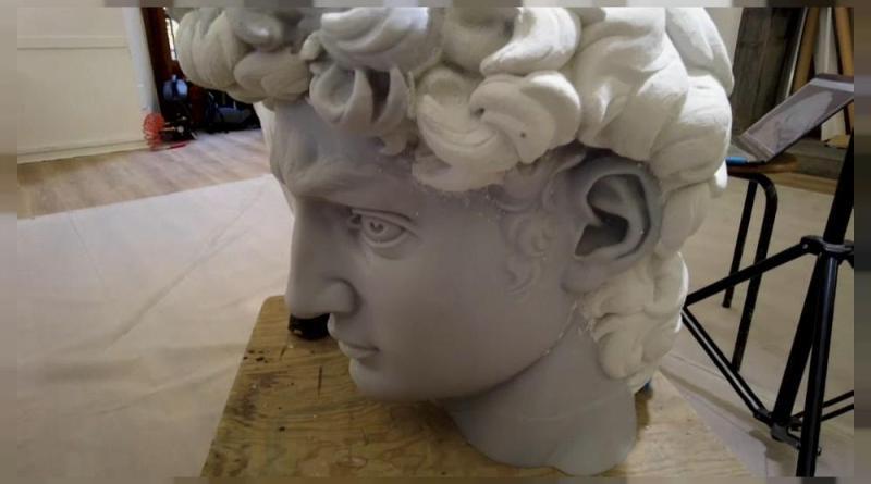 O David, de Miguel Ângelo está a ser reproduzido em 3D