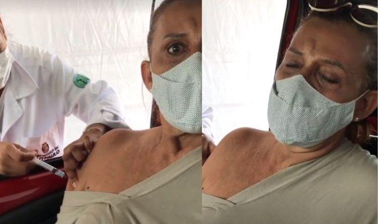 Rita Cadillac se desespera ao ir tomar a vacina contra a Covid 19: 'Pavor de agulha' – Jovem Pan