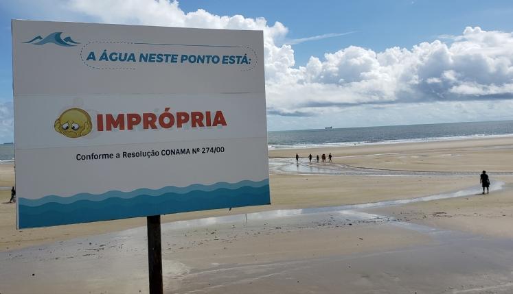 Sete praias estão impróprias para banho na Grande São Luís