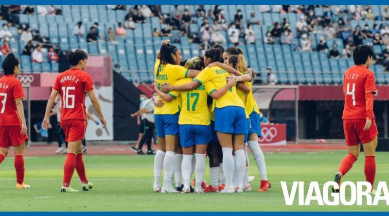 Seleção feminina vence a China por 5 a 0 nas Olimpíadas