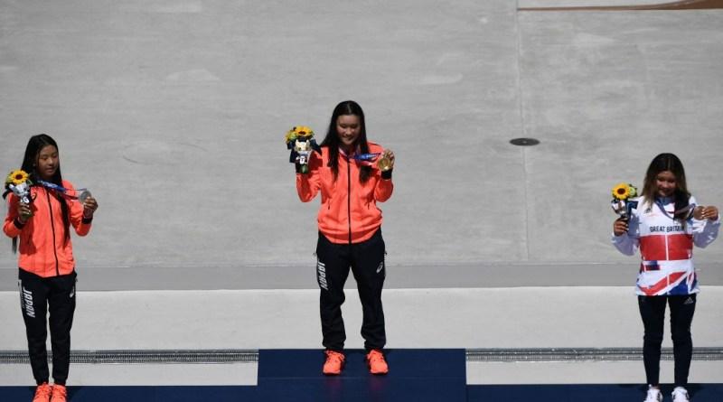 Japão apresenta grande domínio no skate, com três medalhas de ouro