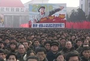 Manifestação popular dirigida pelo PTC contra o imperialismo yankee.
