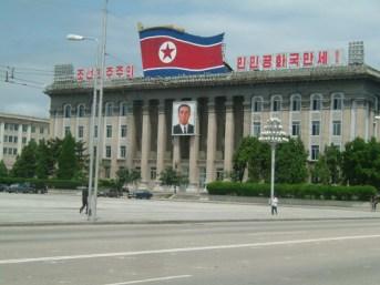 Downtown de Pyongyang.