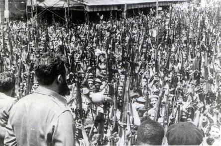 Fidel quando pronuncia publicamente o caráter socialista da Revolução Cubana (antes disso, o programa da Revolução Cubana era um programa de libertação nacional).
