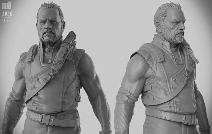 3D-модели Новых Легенд Блиска и Баркера из Apex Legends?