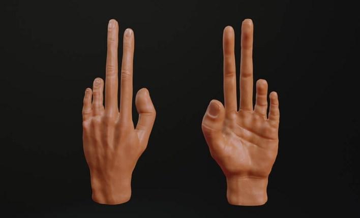 Исследователи Показали, Какими Станут Руки и Пальцы Геймеров Будущего