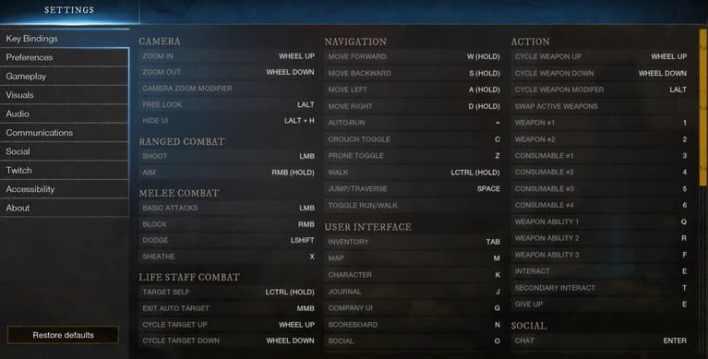 Руководство по Новым Настройкам и Пользовательскому Интерфейсу New World