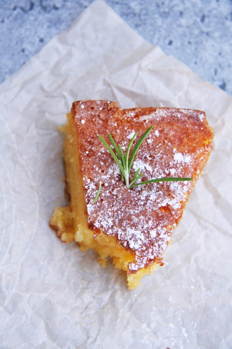 Rosemary Lemon Semolina Cake