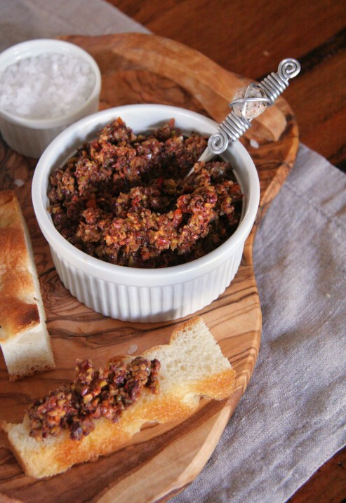 Rosemary Rock Salt Focaccia with Zesty Olive Tapenade