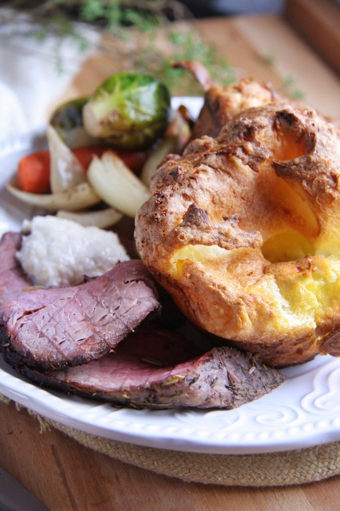 Yorkshire Puddings with Mushroom & Red Onion Gravy