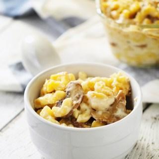 Sautéed Mushroom & Truffle Oil Mac n' Cheese