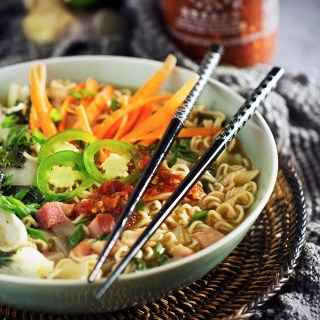 Spicy Bok Choy Ramen with Pork
