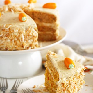 Double Chai Carrot Cake with Toasted Coconut