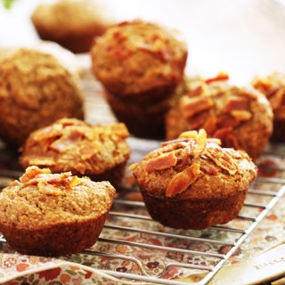 Banana Bacon Bran Muffins