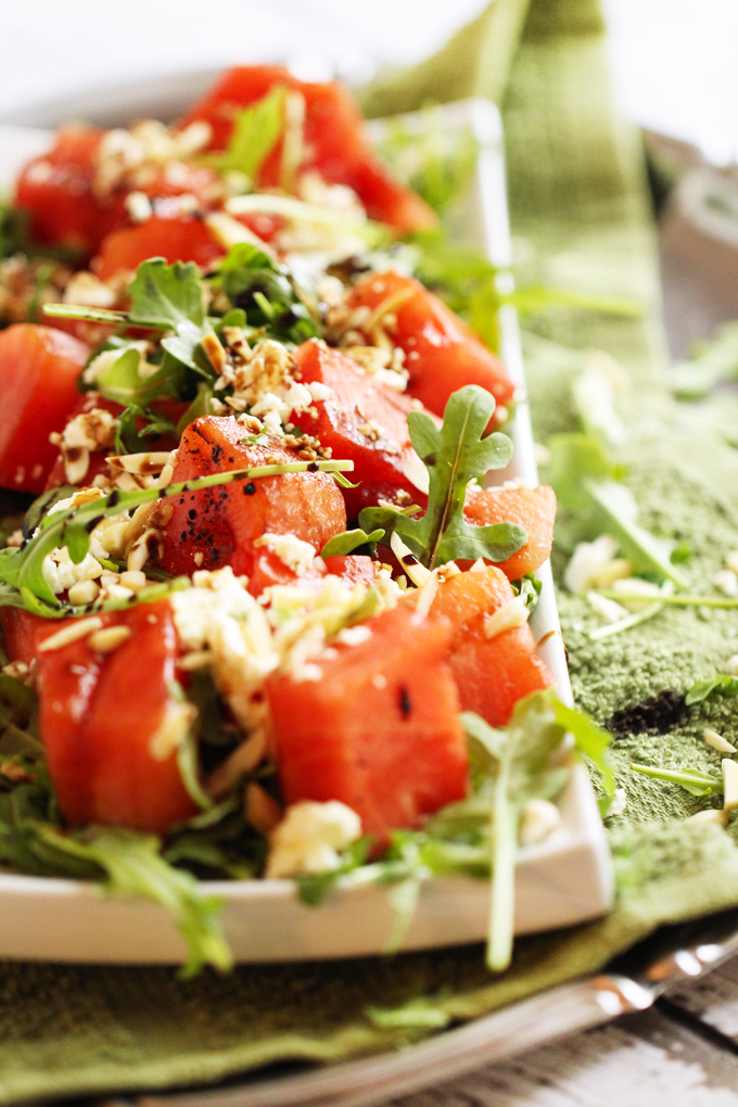 grilled watermelon with feta cheese