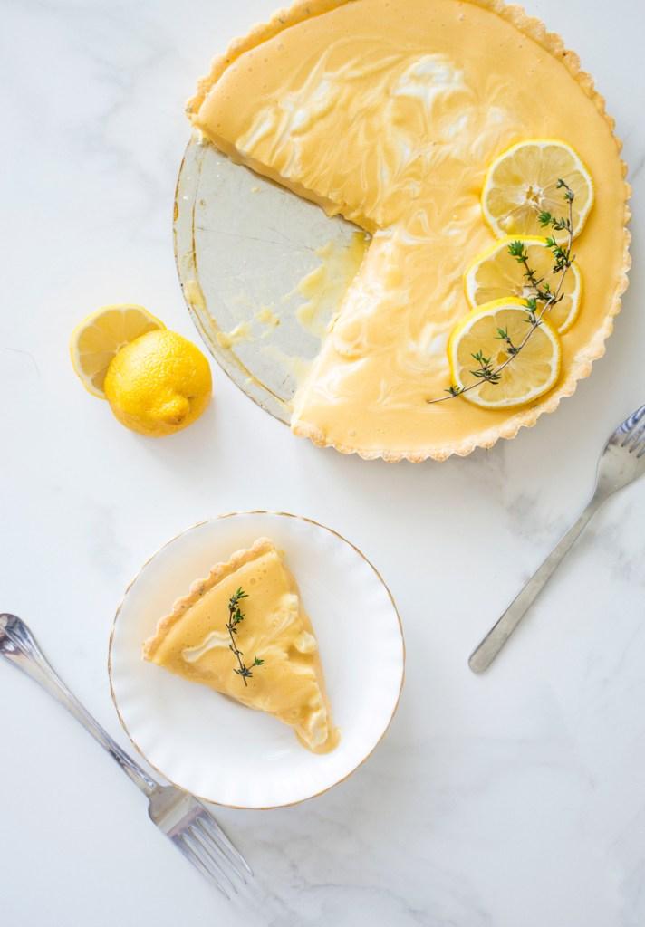 Marbled Lemon Thyme Tart
