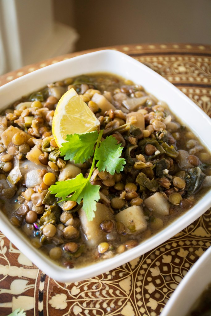 Lemony Lentil Soup with Swiss Chard
