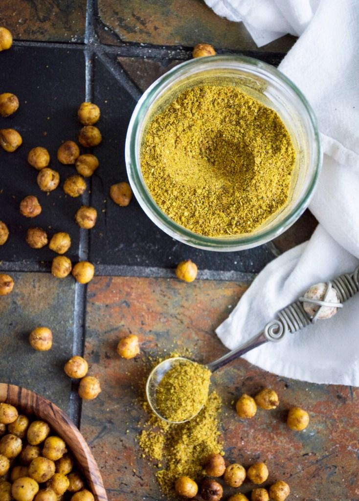 Berbere Roasted Chickpeas