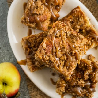 Caramel Apple Pie Spiced Coffee Cake